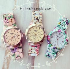 Flower watches! Love those!!