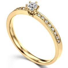 Anel de Noivado Ouro Amarelo e Diamantes - INFINITO :: JOIAS & ALIANÇAS EM OURO | VERSE Joaillerie | Descubra o real significado de ser único e exclusivo.