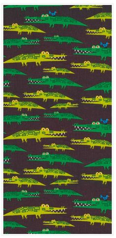 Can't Help Liking These Alligators :) from a distance of course ! Textile Design, Fabric Design, Pattern Art, Pattern Design, Illustration Arte, Gorgeous Fabrics, Pretty Patterns, Textures Patterns, Surface Design