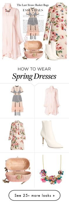 """""""The Last Straw: Basket Bags for Spring"""" by esch103 on Polyvore featuring Chloé, Pier 1 Imports, Chanel, Dolce&Gabbana, Sandy Liang, Gianvito Rossi, Kate Spade and basketbags"""