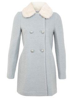 Fur Collar Pea Coat