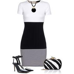 Classe et sobre ! #myfashionlove #look #robe #noire #blanc #BelledeJour www.myfashionlove.com