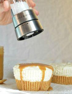 Mini Eggnog No Bake Cheesecake Recipe. Individual Cheesecakes flavored ...