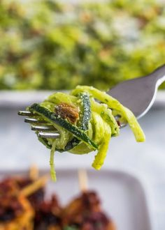 Recipe: Zucchini Noodle Salad with Parsley-Pistachio Pesto