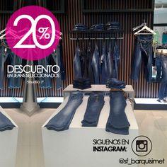 Visita nuestra tienda Studio F Barquisimeto, y disfruta del 20% de descuento en jeans seleccionados. Te esperamos
