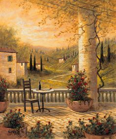 Landscapes - Tuscany - Tuscan View for One - McNaughton Fine Art Company