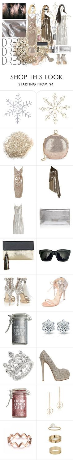 """DRESS/DRESS/DRESS"" by painteronion ❤ liked on Polyvore featuring H&M, Halston Heritage, River Island, HVN, Loeffler Randall, BeckSöndergaard, Enchanté, Jimmy Choo, Giuseppe Zanotti and Major Moonshine"