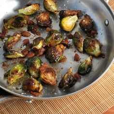 Balsamic Roasted Brussels Sprouts HealthyAperture.com they came out delicious