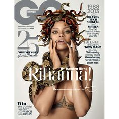 GQ's 25th anniversary cover star: Rihanna by Damien Hirst