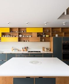 Remodelista: Sourcebook for Considered Living. Grey/Yellow kitchen cupboards
