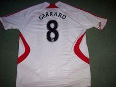 2007 2008 Liverpool Steven Gerrard Away Football Shirt Adults XL
