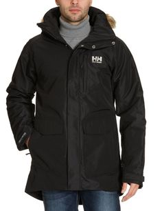 Helly Hansen Men's Black Dublin Dubliner Parka Coat XL Large NWT #HellyHansen