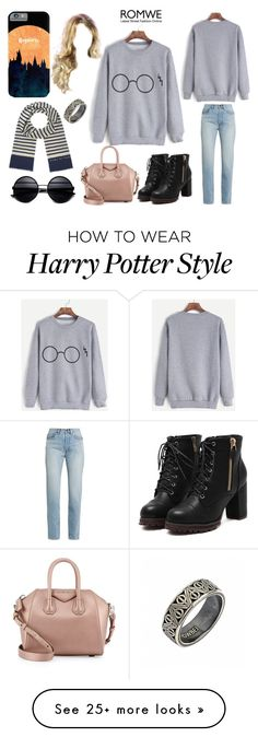 """Muggle 3"" by xaladora on Polyvore featuring Yves Saint Laurent, Givenchy, Marc by Marc Jacobs and harrypotter"