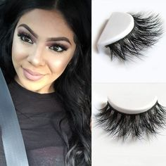 D008 1pcs/lot 100% Real Siberian 3D Mink Full Strip False Eyelash Long Individual Eyelashes Mink Lashes Extension