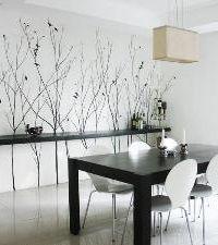 Ideas para pintar paredes: ramas y pájaros