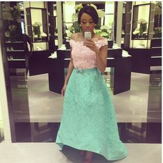 Bonang Matheba in a Oscar De La Renta dress