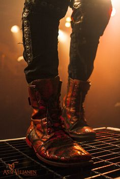 "Sometimes I focus on the important stuff when shooting gigs. This ""gem"" is from the Turisas show on Saturday. Combat Boots, Army, Troll, Shoes, Culture, Metal, Fashion, Gi Joe, Moda"