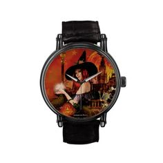 Magical Witch Art Wrist Watch. #Witch #Magical #Watch