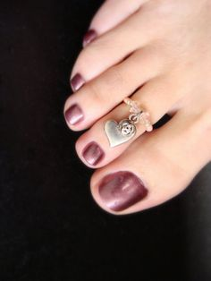 Toe Ring  Heart Rose Charm  Pink Rose Stretch Bead Toe Ring by FancyFeetBoutique, $6.25