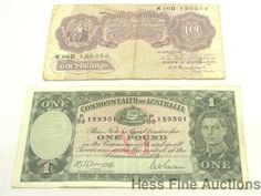 1940s Pound Shilling English Australian Currency Collection