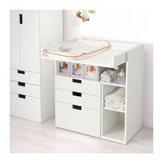 STUVA Changing table with 3 drawers - white - IKEA
