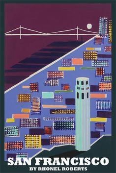 Rhonel Roberts, Hayes Valley artist,  Coit Tower, San Francisco, North Beach