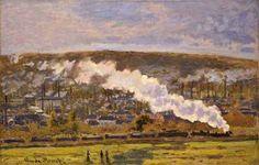 "Claude Monet ""tren de carga"" 1872"