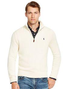 Half-Zip Cotton Sweater - Polo Ralph Lauren  Sweaters - RalphLauren.com