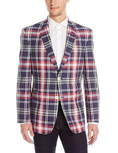 05c360e2472 Tommy Hilfiger Men s Ethan Madras Plaid Sport Coat