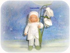 Schneeglöckchen Blumenkinder Jahreszeitentisch von Susannelfes Blumenkinder  auf DaWanda.com