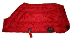 """600D Close Front Medium Weight Winter Horse Blanket Red by AJ. $65.00. 600 Denier nylon water resistant outer shell. Hood rings. 300g medium weight poly fill insulation. Adjustable elastic belly strap and leg straps. Close front. 600 Denier medium weight Close Front winter horse blanket. Made with 600D """"Rip Stop"""" water resistant nylon outer shell; 300g medium weight poly fill, smooth and soft black nylon lining. Elastic straps keep the blanket stay on. Machine washable.  To M..."""