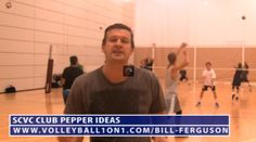 In this video Bill Ferguson tells about pepper volleyball drill. Bill gives advice to SCVC club players for how to do the pepper volleyball drill better. This video includes important tips and technique which are useful for players and coaches. To see video please visit at http://volleyball1on1.com/bill-ferguson