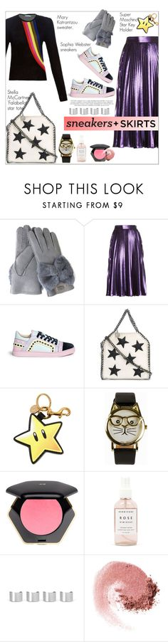 """""""Skirts+Sneakers"""" by theglossyspace ❤ liked on Polyvore featuring Australia Luxe Collective, Gucci, Sophia Webster, STELLA McCARTNEY, Moschino, JFR, H&M, Herbivore, Maison Margiela and NARS Cosmetics"""
