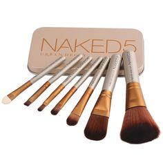 7pcs/Set Cosmetic Brush Pro Powder Foundation Eyeshadow Makeup Brushes Tool #Unbranded
