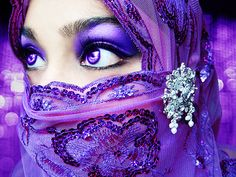 purple veiled