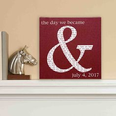 A Personal Creations Exclusive! Our unique art canvas is a lovely reminder of the unforgettable day your names were forever linked as a couple.