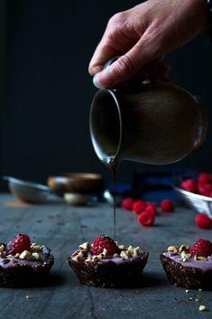 raspberry chocOlate roasted hazelnut mini tarts