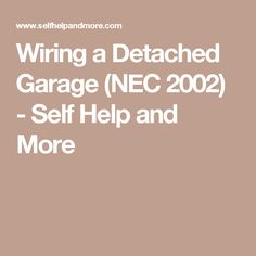 24 best garage images on pinterest in 2018 garage storage, garage installing wiring for garage wiring a detached garage (nec 2002) self help and more home wiring,