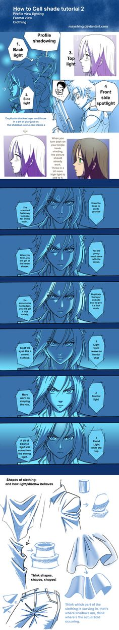 How to shade by mayshing.deviantart.com ✤ || CHARACTER DESIGN REFERENCES…
