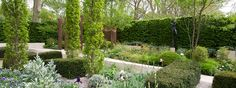 The Laurent-Perrier Garden - I want oak trees like this!