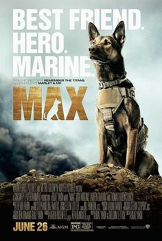 """MAX - Just because the movie is named after the dog doesn't mean he's the real focus of the movie. I suppose calling it """"Justin"""" with a picture of the surly teenager in front of his computer isn't as powerful of an image of Max in a flak jacket in Afghanistan. I suppose Warner Bros. knows what it's doing from a marketing perspective. Still, who cares about the stupid people? I wanted to see more about the dog!"""
