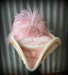 Mini Mari Antoinette Tricorn Roccoco hat Mini Tricorn by ChikiBird