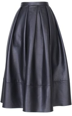 It doesn't get much chicer in this shape than in a midnight blue leather iteration. Tibi skirt, $998, tibi.com. Imaxtree  - HarpersBAZAAR.com