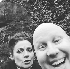 """Nardole (Matt Lucas) looks so happy and then there's Missy (Michelle Gomez) like """"oohh, a camera!"""""""