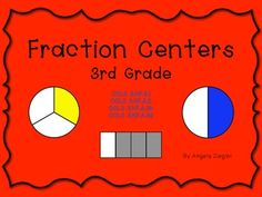This package contains 4, 3rd grade fraction centers designed to address Common Core Learning Standards 3.NF.A.1, 3.NF.A.2, 3.NF.A.3b and 3.NF.A.3d. These centers come with tips for teachers, instructions for students and recording sheets for each one. Centers can be independent work or partner activities.