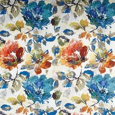 The Decadence Collection — Stuart Graham Fabrics Bed Curtains, Ikat, Living Room Designs, Upholstery, Vibrant, Colours, Blue Flowers, Purpose, Prints