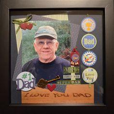 """""""Our Dad"""" by Merry, as seen in the Club CK Idea Galleries. #scrapbook #scrapbooking #creatingkeepsakes"""