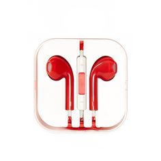 PhunkeeTree Red Earbuds (€9,21) ❤ liked on Polyvore featuring electronics, accessories, headphones, fillers and earbuds
