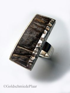 Silver ring with coconut