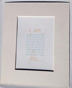 I AM HIS (daughter) Print - Hazel & Bright